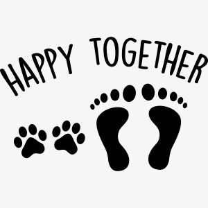 happy together dog