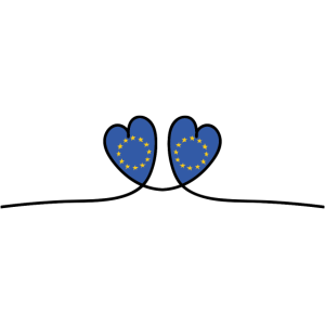Europa Herzen - Europäische Union Flagge