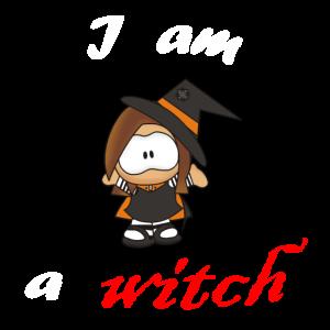 I am a witch clip art blut