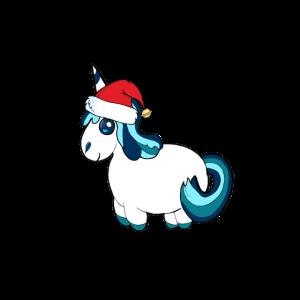 Unicorn mit Muetze Geschenk Weihnachten