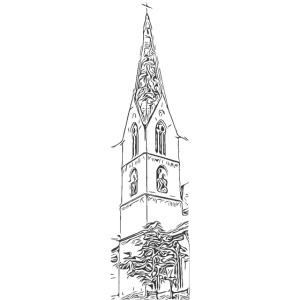 Heilig-Kreuz-Münster Rottweil schwarz