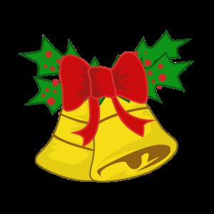 Weihnachtsglocken mit Mistelzweig