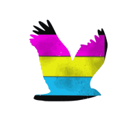 Pan Vogelfrei Regenbogenfahne