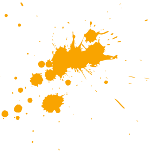 orangefarbener Klecks