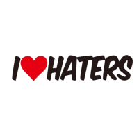 I ♥ haters / Geschenk Geschenkidee