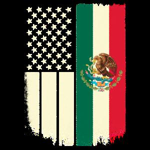 Mexikanische und amerikanische Flagge Mexikanische amerikanische 4. Juli Design