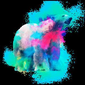 Eisbär Raubtier farbenfroh