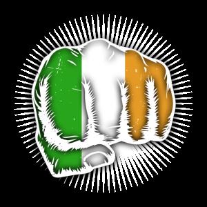Irland Flagge Kleeblatt St.Patrick´s Day Faust UK