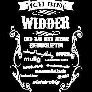 WIDDER - STERNZEICHEN
