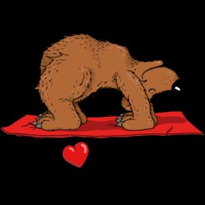 Der Yoga Bär aus dem Yoga Zoo liebt Yoga