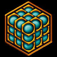 3D Kubus - Kornkreis - Metatrons Würfel - Hexagon