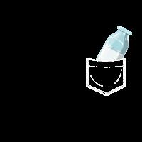 Milch in Brusttasche