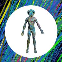 Abstrakter männlicher Körper