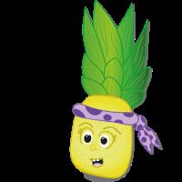 Ananas Born to Rock Musik Früchtchen