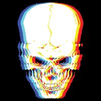 Psychedelisches Skelett Einfaches Halloween-Kostüm