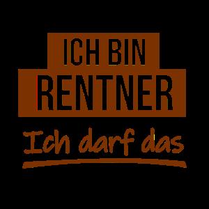 """Rentner ist Plakativ der Meinung """"ich darf das""""."""