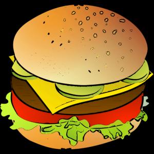 Lustiges Burger Shirt