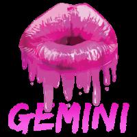 Gemini Zodiac Sexy Lippenhemd