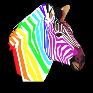 Regenbogen Afrika Tier Zebra Punk Einhorn Geschenk