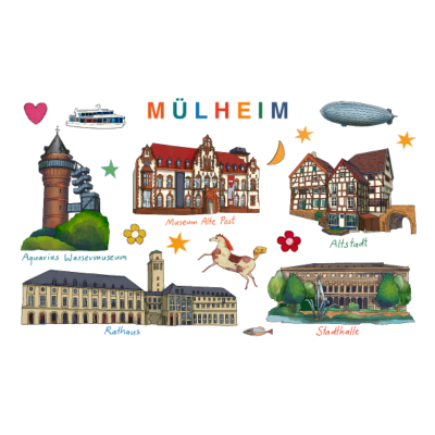 Mülheim - Mülheim Sehenswürdigkeiten - Altstadt Mülheim,Aquarius Wassermueseum,Mülheim Sehenswürdigkeiten,Mülheim,Stadthalle Mülheim,Rathaus Mülheim,Stadtansicht,Museum Mülheim