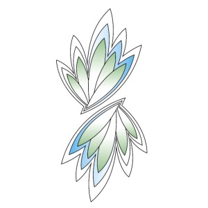 foglie verdi e azzurre