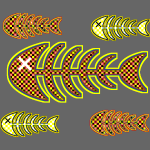 dead fishes - legs in orange and yellow