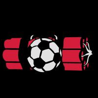 Dynamitbombe Alarm Fußballfußball
