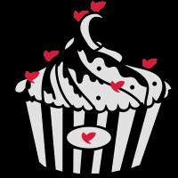 Schwarz und Weiß Cupcake