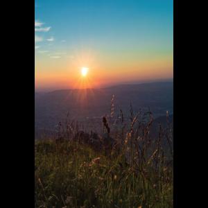 Sonnenutergang, Berge, Sonnenuntergang