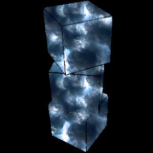 Wuerfel blau