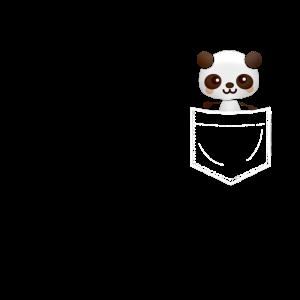 Panda in Brusttasche
