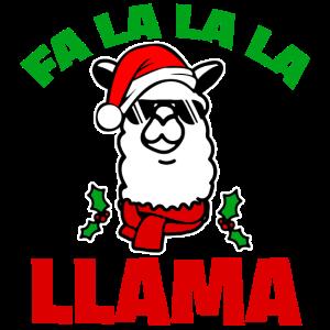 Weihnachten Lama