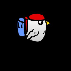Vogel mit Rucksack - Backpacker Reisen Reise