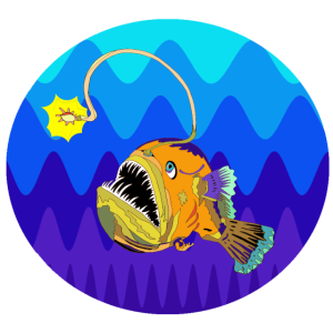Angelrute-Fisch-Tiefsee-Meer-Ozean-Tauchen
