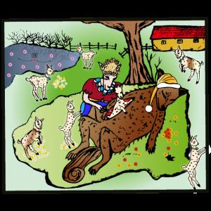 Der Wolf und die sieben Geißlein- Christmas