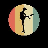 Weinlese-Retro grafischer Eiskunstläufer-Eis-Tänzer