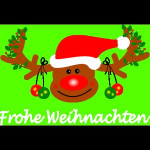 Rentier - Frohe Weihnacht