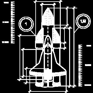 Raumschiff Blaupause | Galaxie Weltall Raumfahrt