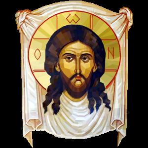 Low-Poly-Jesus-Ikone