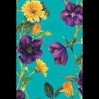 Blumen Tapete Vintage bunt Geschenk Blumenmuster
