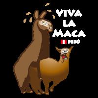 Lama für schwarzes T-Shirt