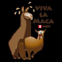 Lama für weisses T-Shirt