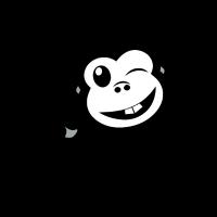 Lächelnder Affe Black Edition