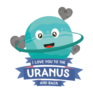 Love you to the Uranus Planet Character