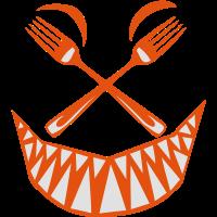 Küche Gabel Gabel Smiley Zahn fero