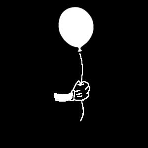 Hand mit Luftballon