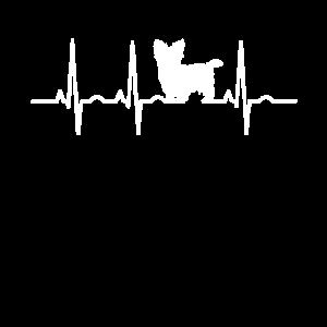 Yorkie Yorkshire Hund Herzschlag EKG Geschenk