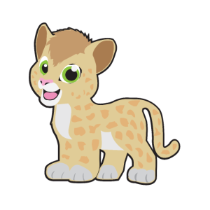 Süßer kleiner Gepard - Kinder und Baby Design