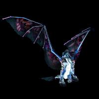 Ehrfürchtiger blauer Drache