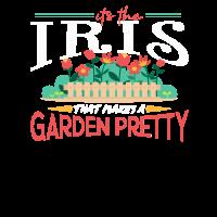 Gartenarbeit-Geschenke Seine Iris, die einen Garten hübsch macht